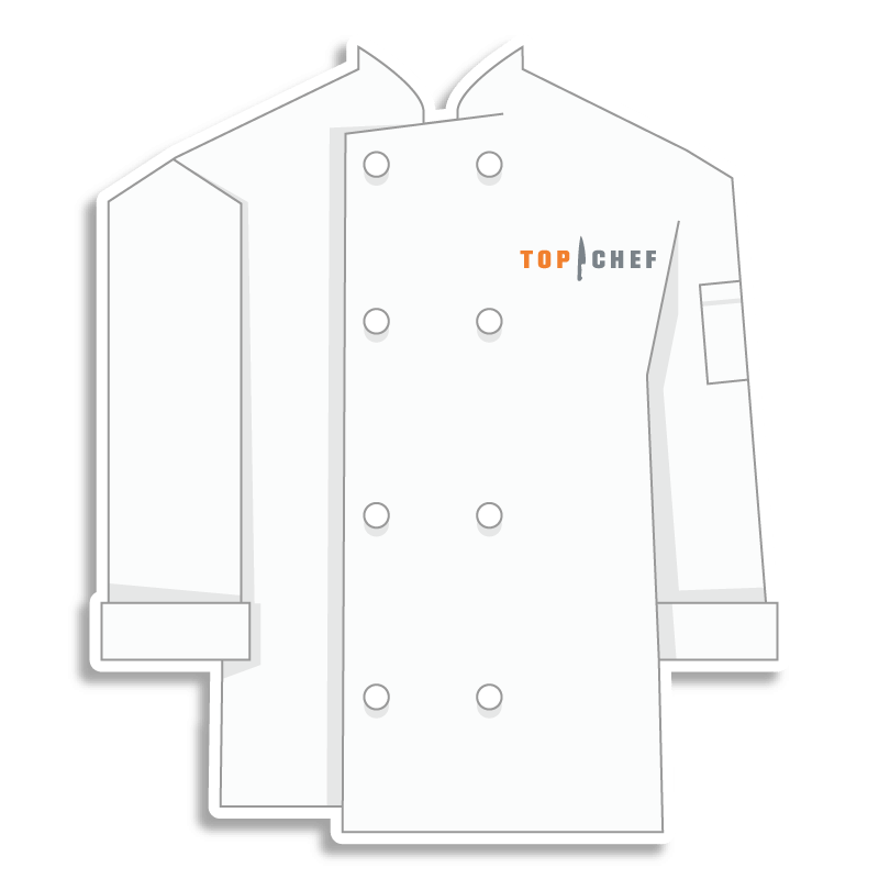 white Top Chef chef coat