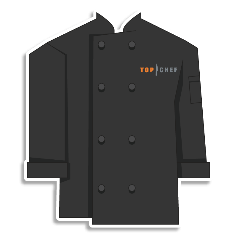black Top Chef chef coat